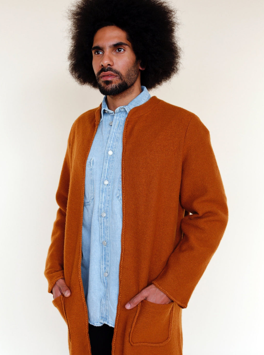 BASTO Cardigan in Whisky