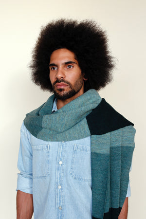 MARLO Scarf Striped Green