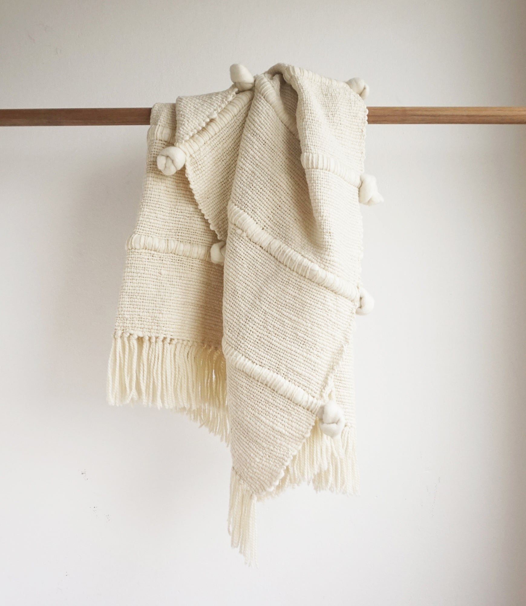KNOT Throw Blanket in Ivory