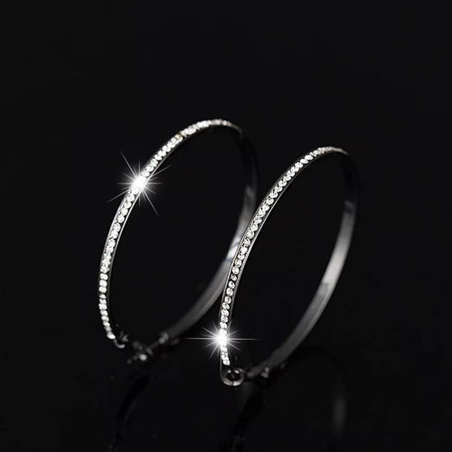 Hematite Hoop Pierced Earrings - Julie Porter