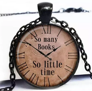So Many Books Necklace