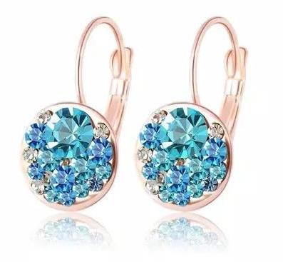 Aqua Marine Pierced Earrings