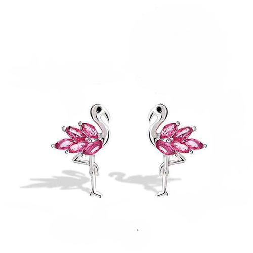 Flamingo pierced earrings - Julie Porter