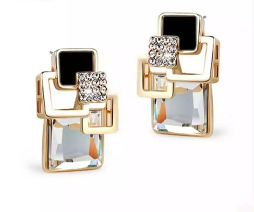 Art Deco Pierced Earrings - Julie Porter