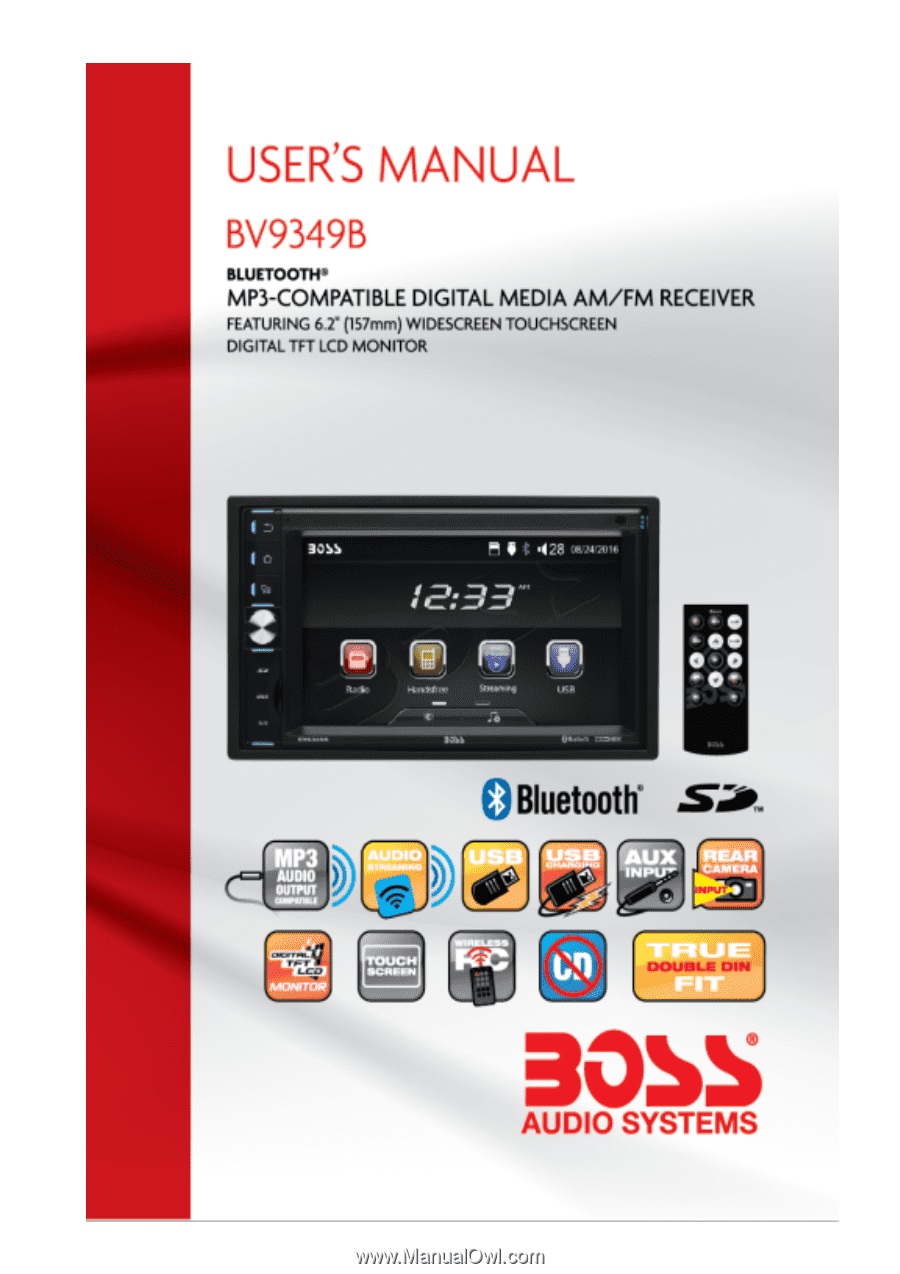 "Boss Stereo Doble Din 6.2"", USB, Bluetooth"