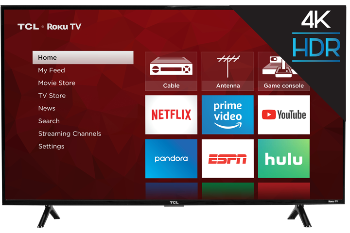 "TCL Smart TV 43"" LED 4K(Refurbished)"