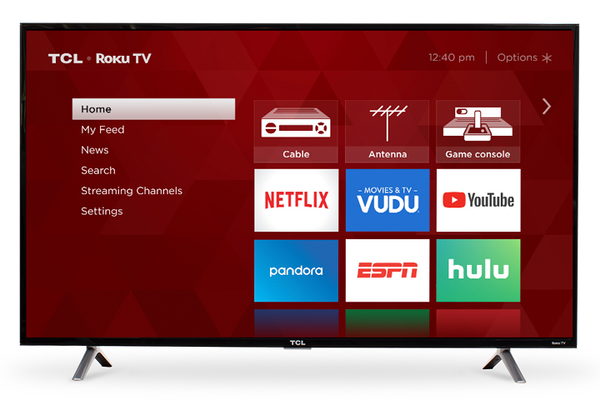 "TCL Smart TV 49"" LED - ROKU TV(Refurbished)"