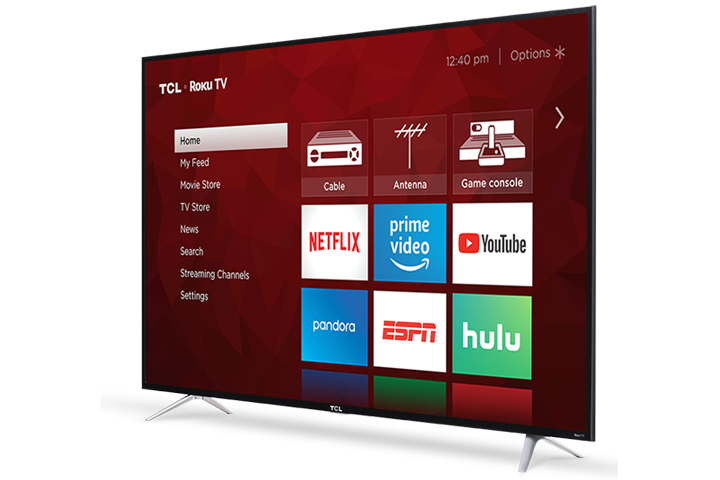 "TCL Smart TV 55"" LED 4K - ROKU (Refurbished)"