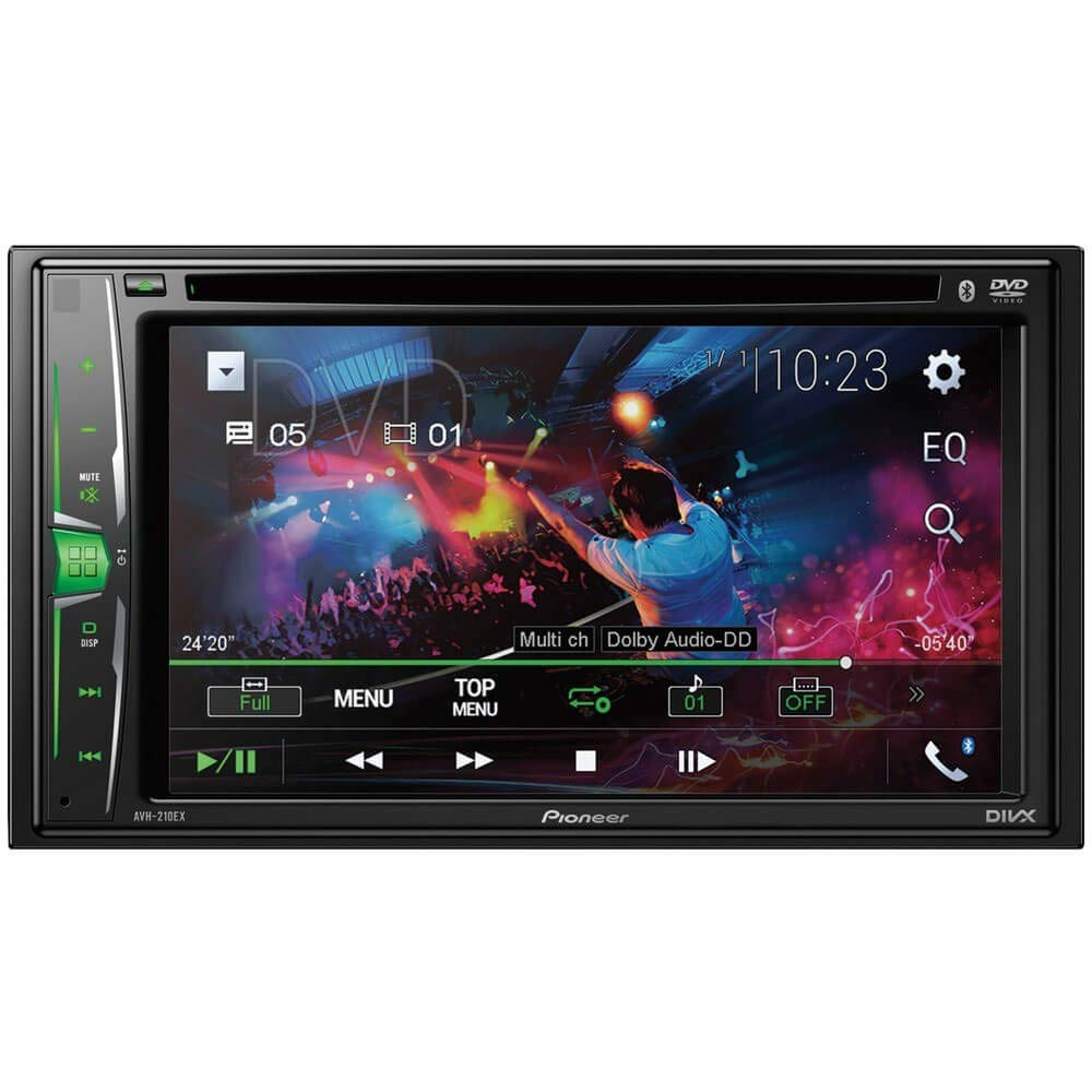 "Pionner AVH-210EX Multimedia DVD - Built-in Bluetooth - 6.2"" Display"
