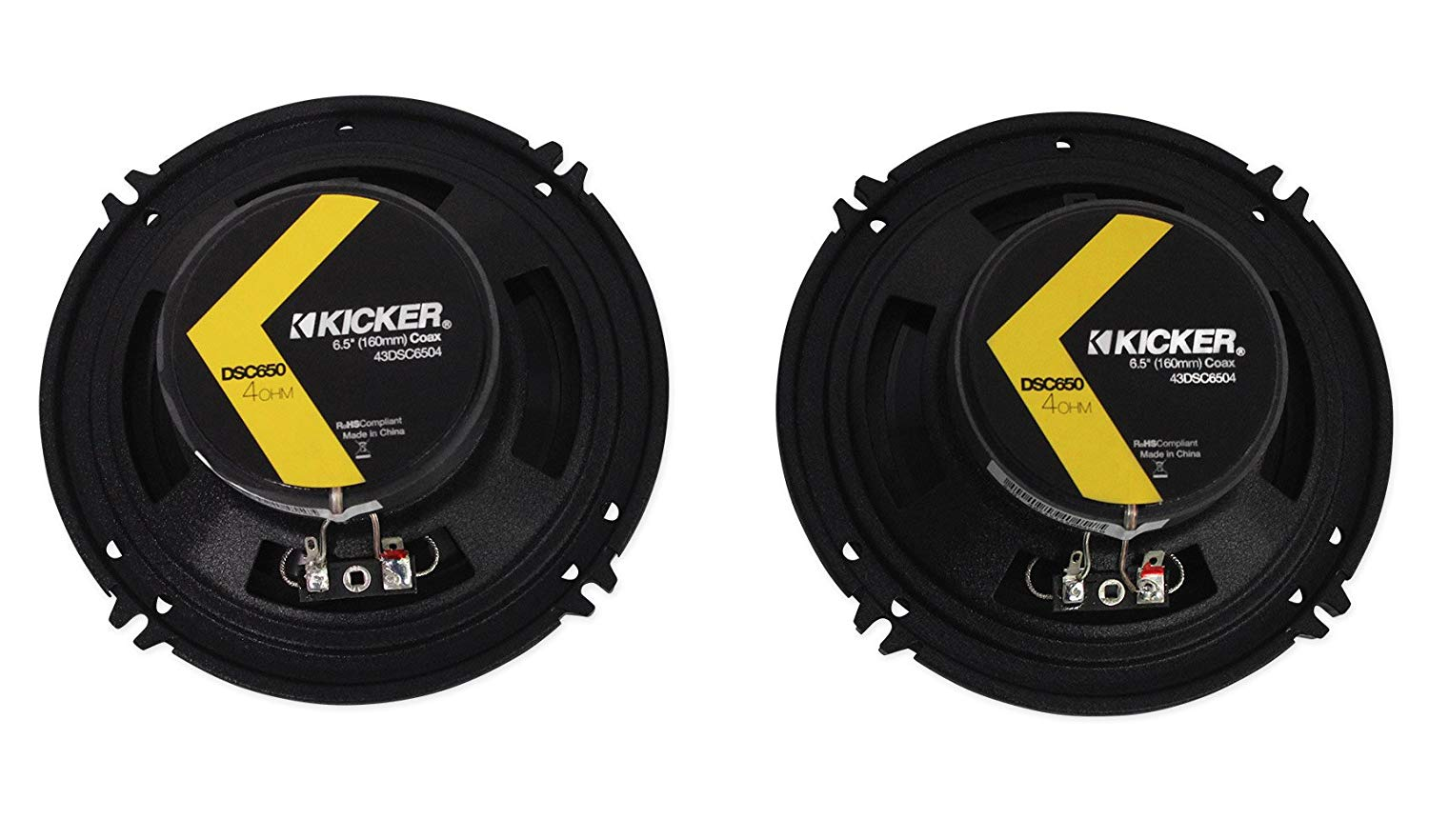 Kicker DSC650 6-1/2-Inch Coaxial Speakers - 240 watts