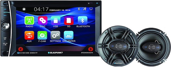 Blaupunkt 6.2-Inch In-Dash Touch Screen DVD Multimedia Receiver - Bluetooth