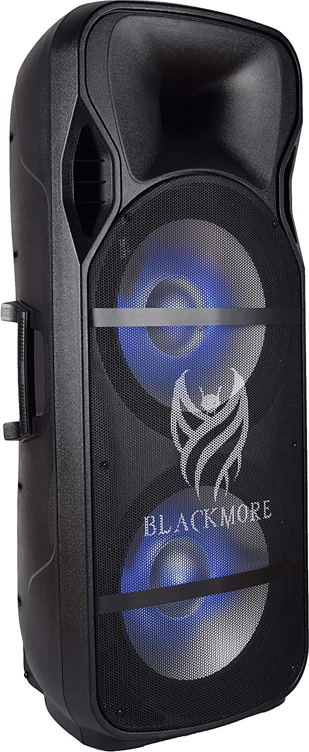 "Blackmore BJW-2118PBT Dual 15"" Powered Bluetooth Speaker"