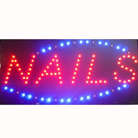 "Letrero Led ""NAILS"" - Luminoso"
