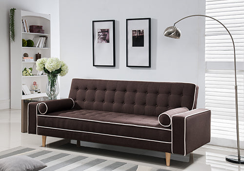 Sofa Cama (Futon)  AcabadoTela Brown