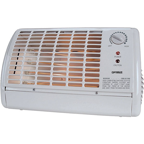 Optimus Calenton Electrico De 1320 Watts con  Termostato Color Blanco