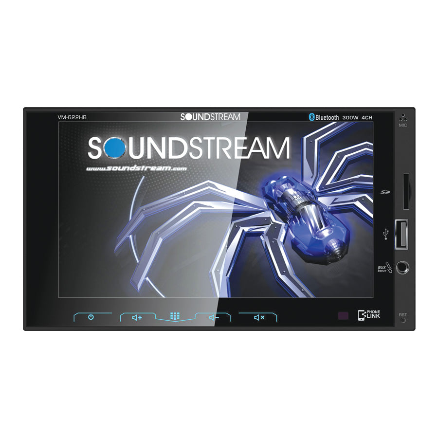 "Soundstream VM-622HB Stereo 6.2"" Touchscreen 2-DIN  W/BT"