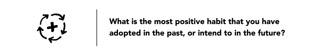 Illustration of a positive habit symbol