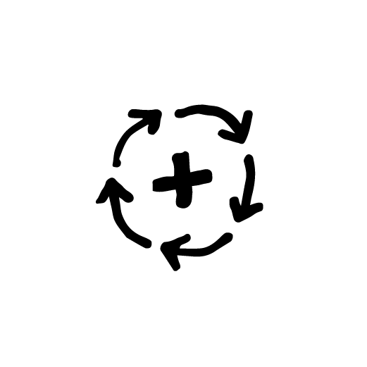 positive habit icon drawing