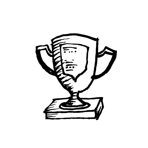 trophy pencil drawing illustration