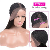 Straight Hair 2×6 Lace Closure Wigs