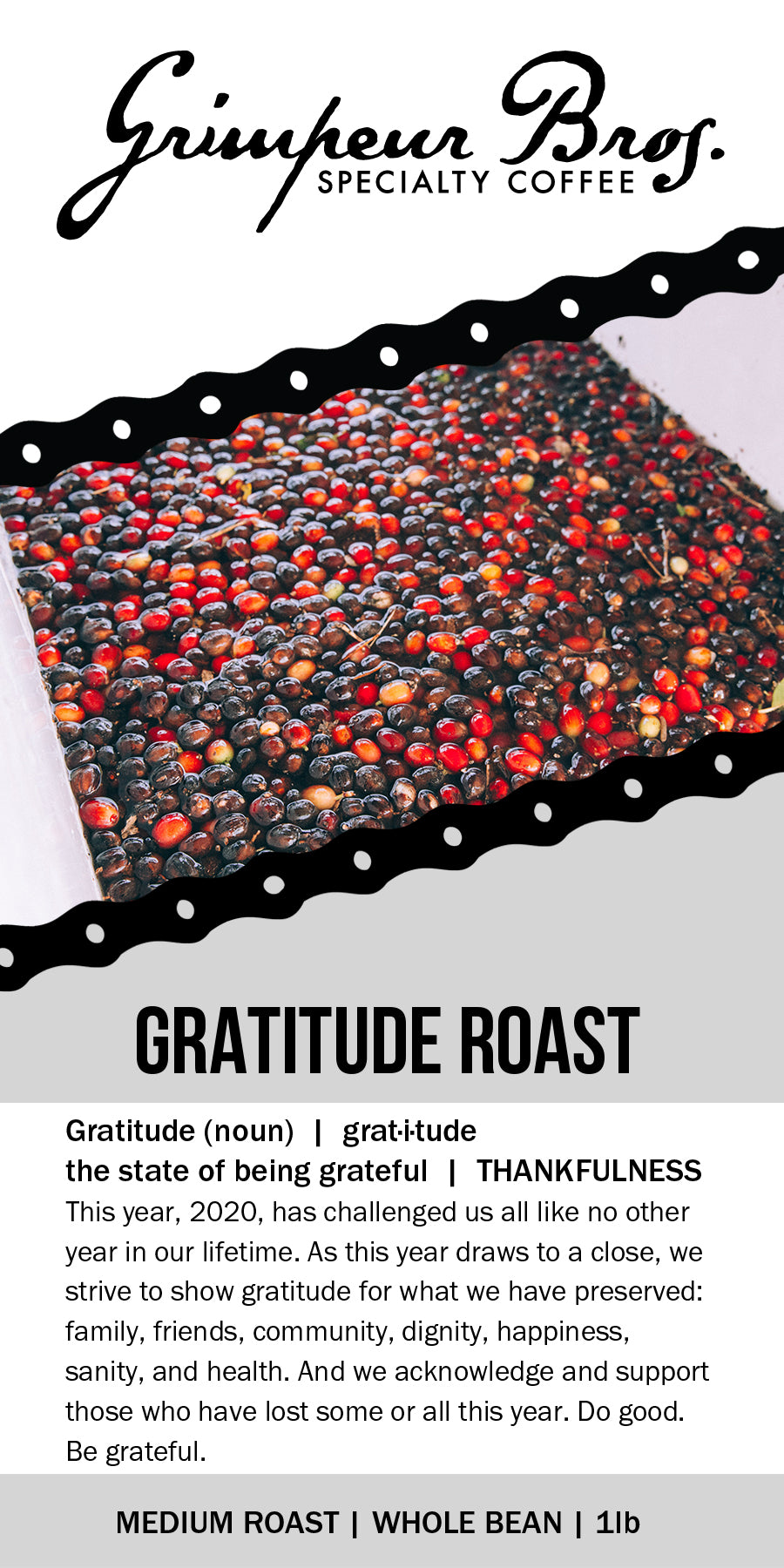 Gratitude Roast Coffee 1lb Bag and But First Coffee 11 oz Mug Bundle