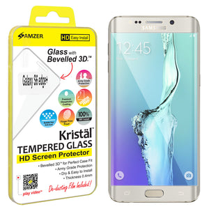 Amzer Kristal™ Tempered Glass HD Edge2Edge Clear Screen Protector for Samsung Galaxy S6 edge Plus SM-G928F