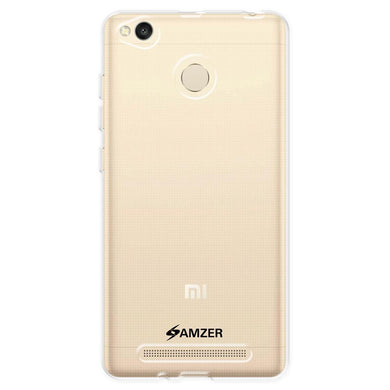 AMZER Pudding Soft Gel TPU Skin Case for Xiaomi Redmi 3 - Crystal Clear