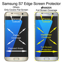 Load image into Gallery viewer, AMZER Kristal Tempered Glass HD Edge2Edge Screen Protector for Samsung GALAXY S7 Edge - Clear