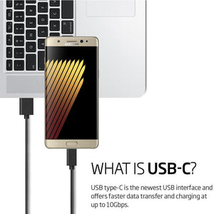 AMZER 25 cm/9 Inch Type A to USB Type C Reversible Super Speed Fast Data Sync & Charging Cord