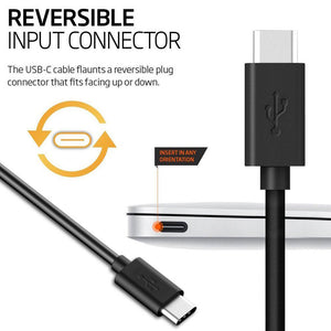 AMZER 2m/6 feet Type A to USB Type C Reversible Super Speed Fast Data Sync & Charging Cord