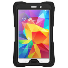 Load image into Gallery viewer, AMZER TUFFEN Hybrid Shockproof Case for Samsung GALAXY Tab 4 7.0 - Black