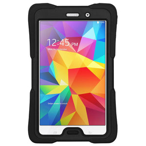 AMZER TUFFEN Hybrid Shockproof Case for Samsung GALAXY Tab 4 7.0 - Black