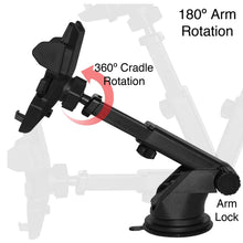 Load image into Gallery viewer, Long Telescopic Arm Universal Sticky Suction Mount - Black