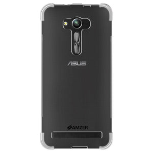 AMZER Pudding Ultra Thin TPU X Protection Shockproof Case for Asus Zenfone Go 5.5 ZB551KL - Clear