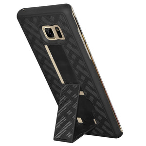 AMZER Snap On Case with Kickstand - Black for Samsung Galaxy Note Fan Edition