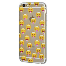 Load image into Gallery viewer, Ultra Thin Protective Cover Soft Gel Shockproof TPU Skin Case Tongue Out for iPhone 6 - Clear