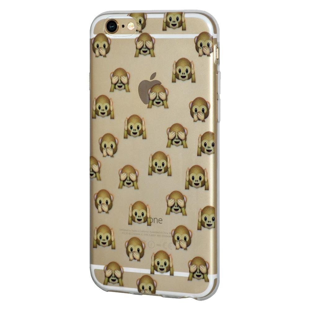TPU Skin Case See Hear Speak No Evil Monkeys for iPhone 6 6s