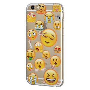Ultra Thin Protective Cover Soft Gel Shockproof TPU Skin Case Mixed Emotions 2 for iPhone 6 - Clear