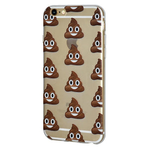 Ultra Thin TPU Skin Case Poop for iPhone 6+ 6s+ Plus