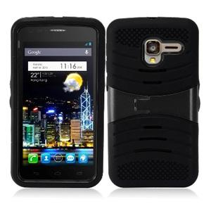 Armor Hybrid Case Shockproof Cover With Kickstand for Alcatel OneTouch Pop 3 5 Inch - Black/Black