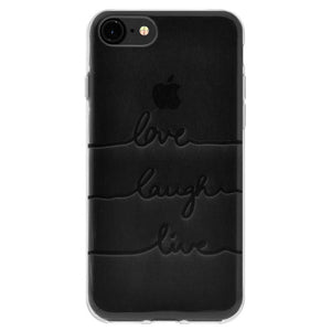 Ultra Thin Cover Soft Gel TPU Skin Case Love Laugh Live for iPhone 6 6s