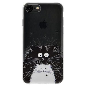 Ultra Thin Protective Cover Soft Gel Shockproof TPU Skin Case Cat for iPhone 6 - Clear