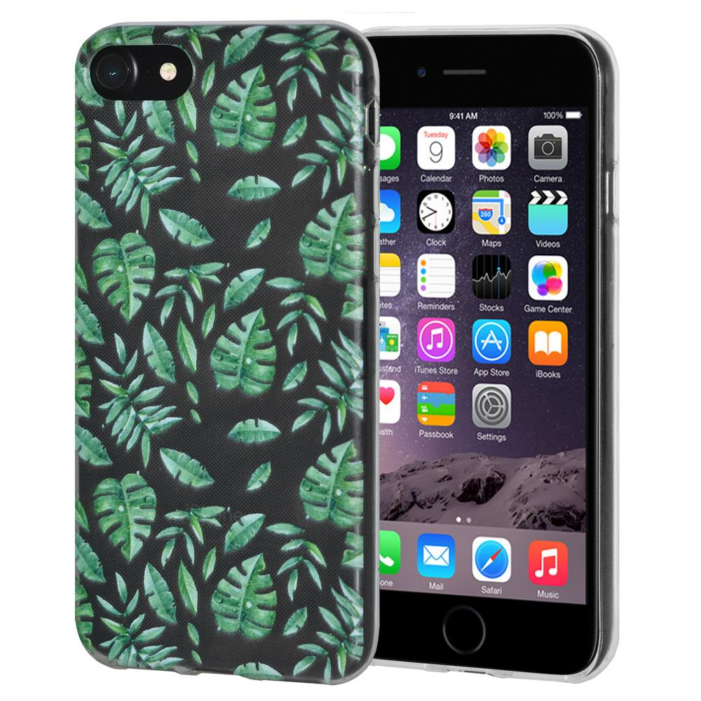 Ultra Thin Protective Cover Soft Gel Shockproof TPU Skin Case Woodland Fern for iPhone 6 - Clear