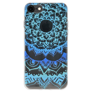 Ultra Thin Cover Soft Gel TPU Skin Case Mandala Ocean for iPhone 6 6s