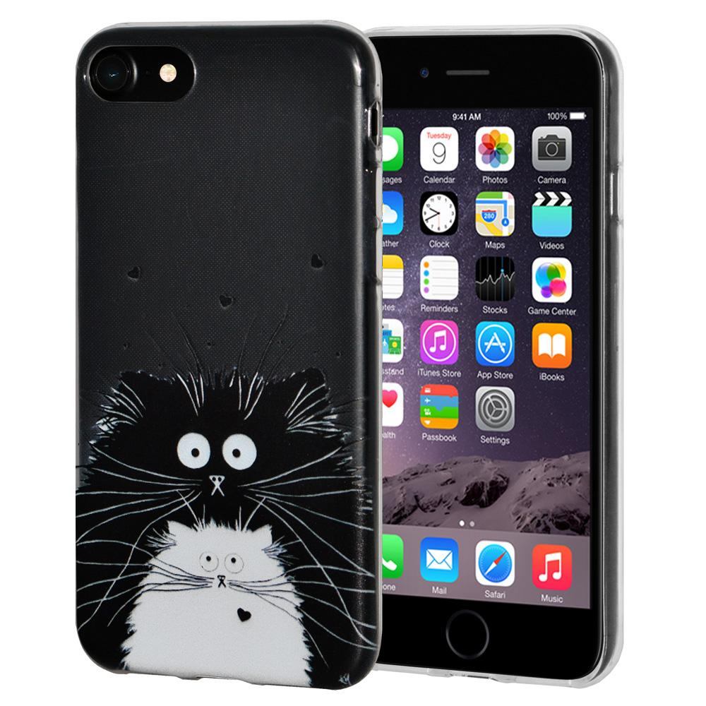 Ultra Thin Protective Cover Soft Gel Shockproof TPU Skin Case Cat for iPhone 6 Plus - Clear