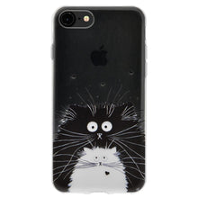 Load image into Gallery viewer, Ultra Thin Protective Cover Soft Gel Shockproof TPU Skin Case Cat for iPhone 6 Plus - Clear