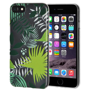 Ultra Thin Protective Cover Soft Gel Shockproof TPU Skin Case Botanical for iPhone 6 Plus - Clear