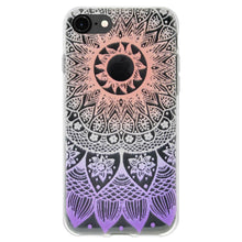 Load image into Gallery viewer, Protective Cover Soft Gel Shockproof TPU Skin Case Mandala Ombre for iPhone 6 Plus - Clear