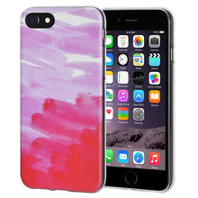 Load image into Gallery viewer, Protective Cover Soft Gel Shockproof TPU Skin Case Abstract Pink for iPhone 6 Plus - Clear