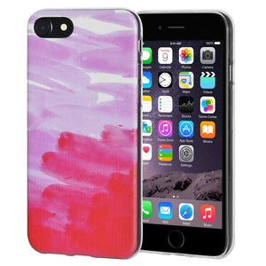 Protective Cover Soft Gel Shockproof TPU Skin Case Abstract Pink for iPhone 6 Plus - Clear